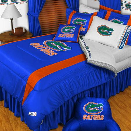 Ncaa florida gators bedding set college football bed queen for Gator bedroom ideas