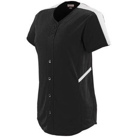 Augusta Sportswear Women's Closer Softball Jersey L Black/White - image 1 de 1