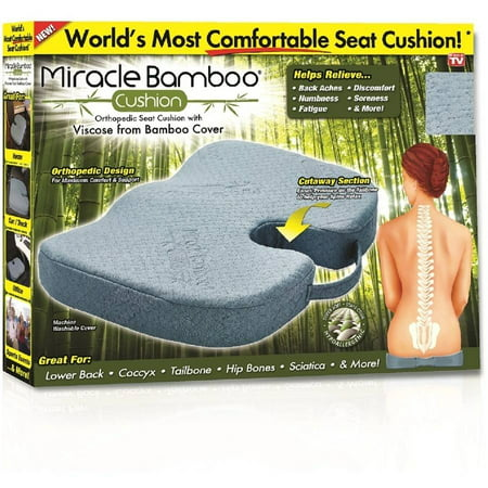 As Seen on TV Miracle Rayon from Bamboo Cushion Pillow Gray