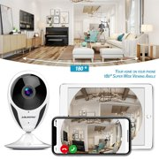 1080P Wireless Wi-Fi IP Camera, ABLEGRID 180 Wireless Home Surveillance Camera for Baby Pet DP-100 Mini Indoor Monitor Camera with Super IR Night Vision, Two-Way Audio
