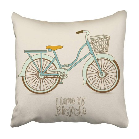 BPBOP Black Vintage Of Bicycle Riding On The Hipster Bike Cute Pastel Wheel Athlete Biking Pillowcase 20x20 inch (Vintage Bicycles)