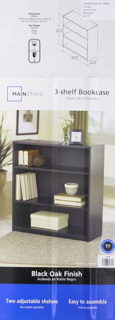 Mainstays 3 shelf bookcase black mainstays 3 shelf bookcase black.