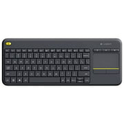 Refurbished Logitech Wireless Touch Keyboard K400 Plus Touchpad Keyboard For Internet-Connected TVs