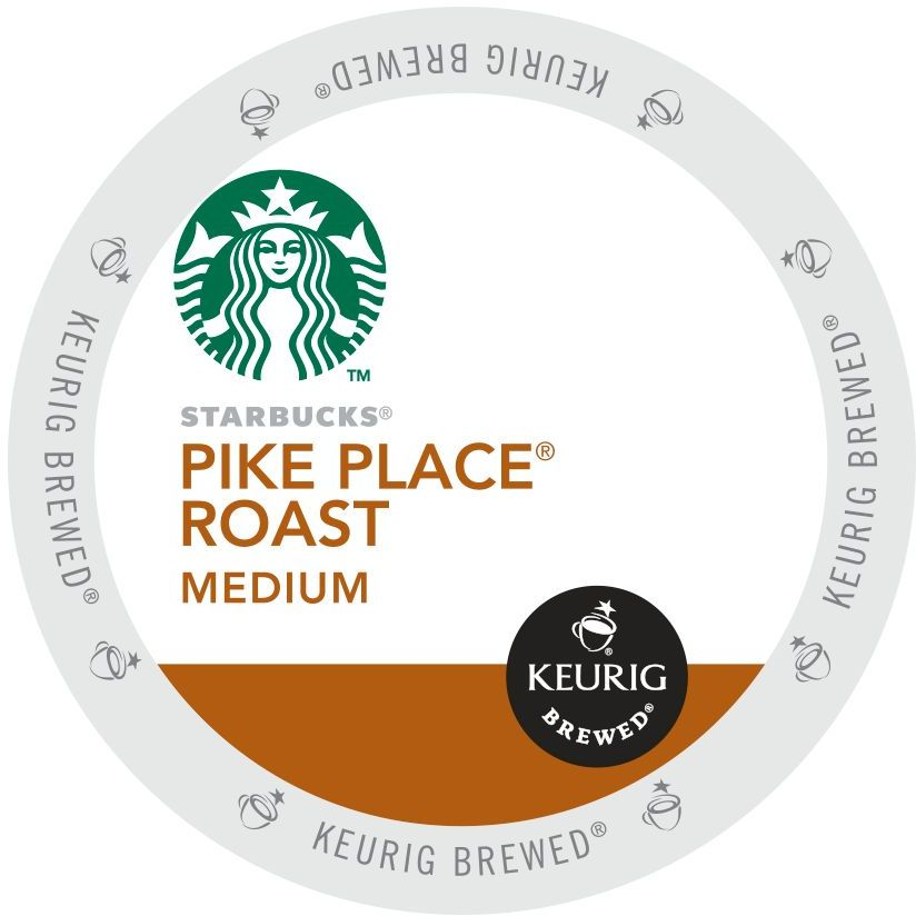 Starbucks Pike Place Roast Coffee, K-Cup Portion Pack for Keurig Brewers (96 Count) (4x16oz)