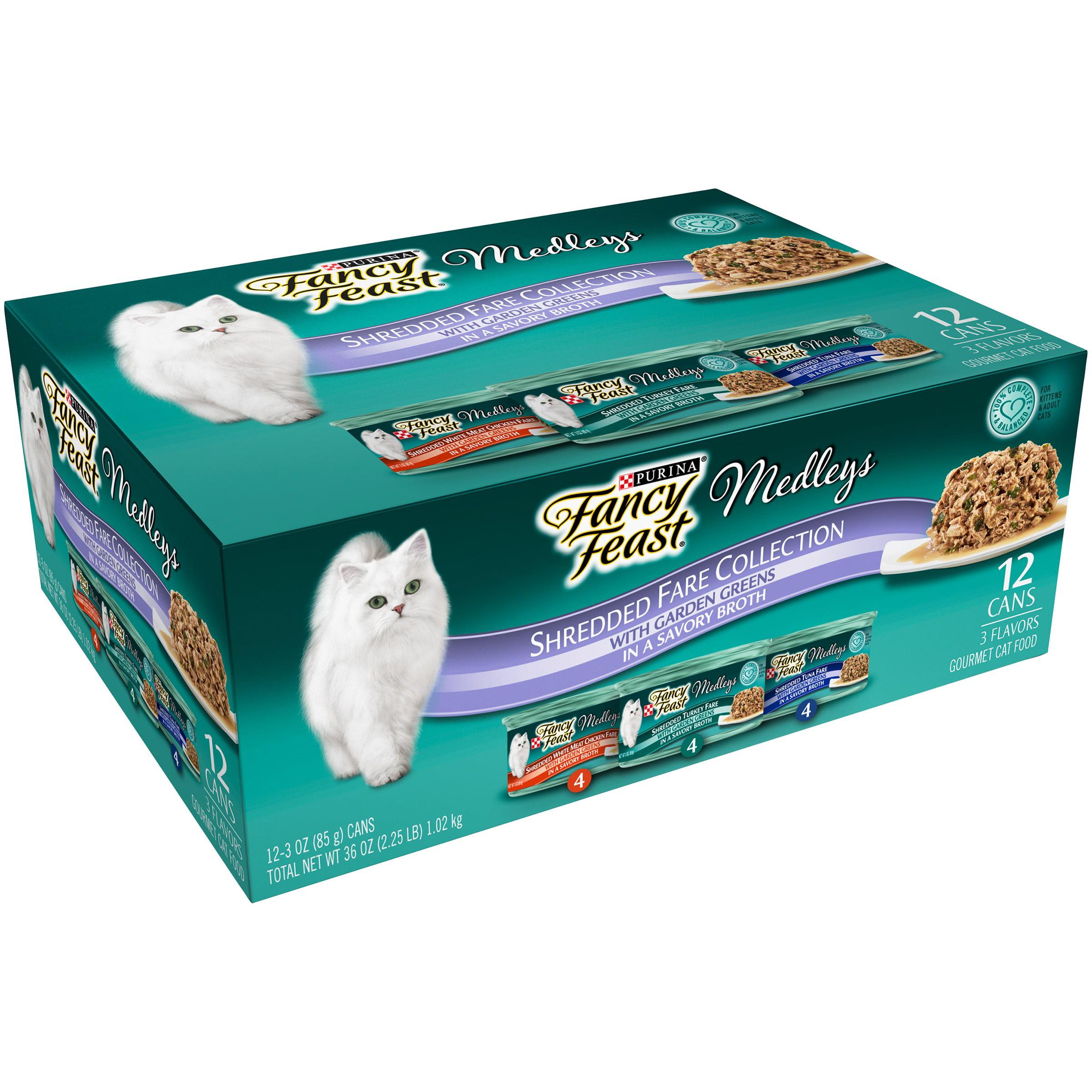 Nestl Purina PetCare Company Nestl Purina Pet Care Company Purina Fancy Feast Medleys Shredded Fare Collection Cat Food 12 - 3 Oz. Cans