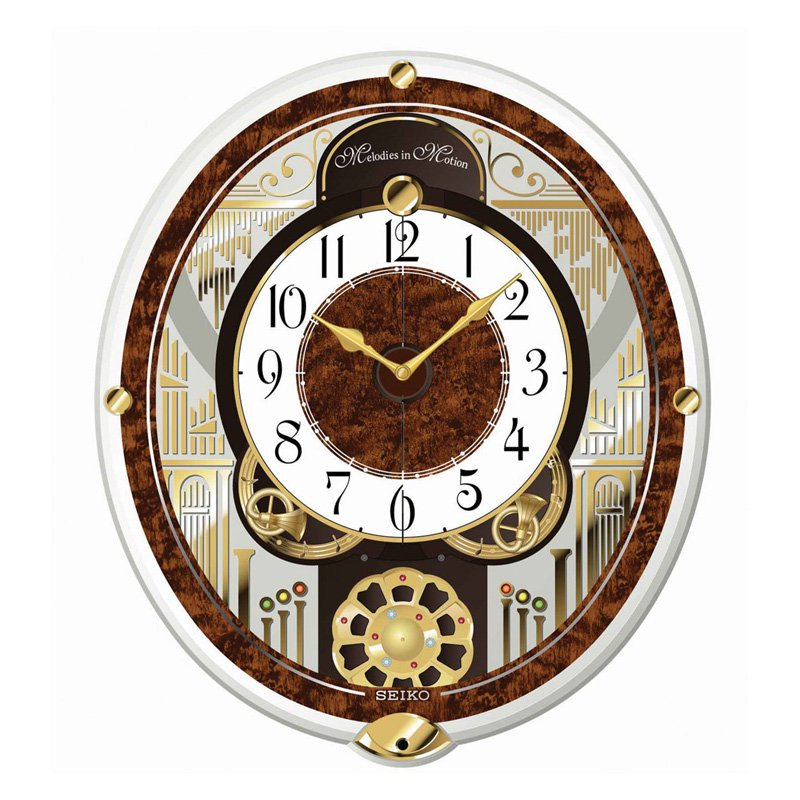 Seiko French Horns Melodies in Motion Wall Clock - 15.75-...