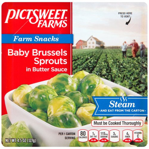 Pictsweet Farms Farm Snacks Baby Brussels Sprouts in Butter Sauce, 4.5 oz