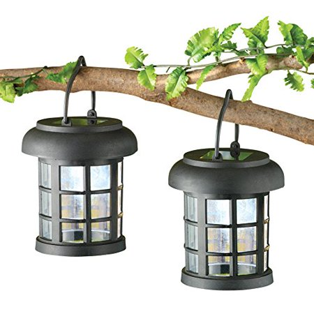 Solar Led Garden Lanterns Set Of 2 Walmart Com