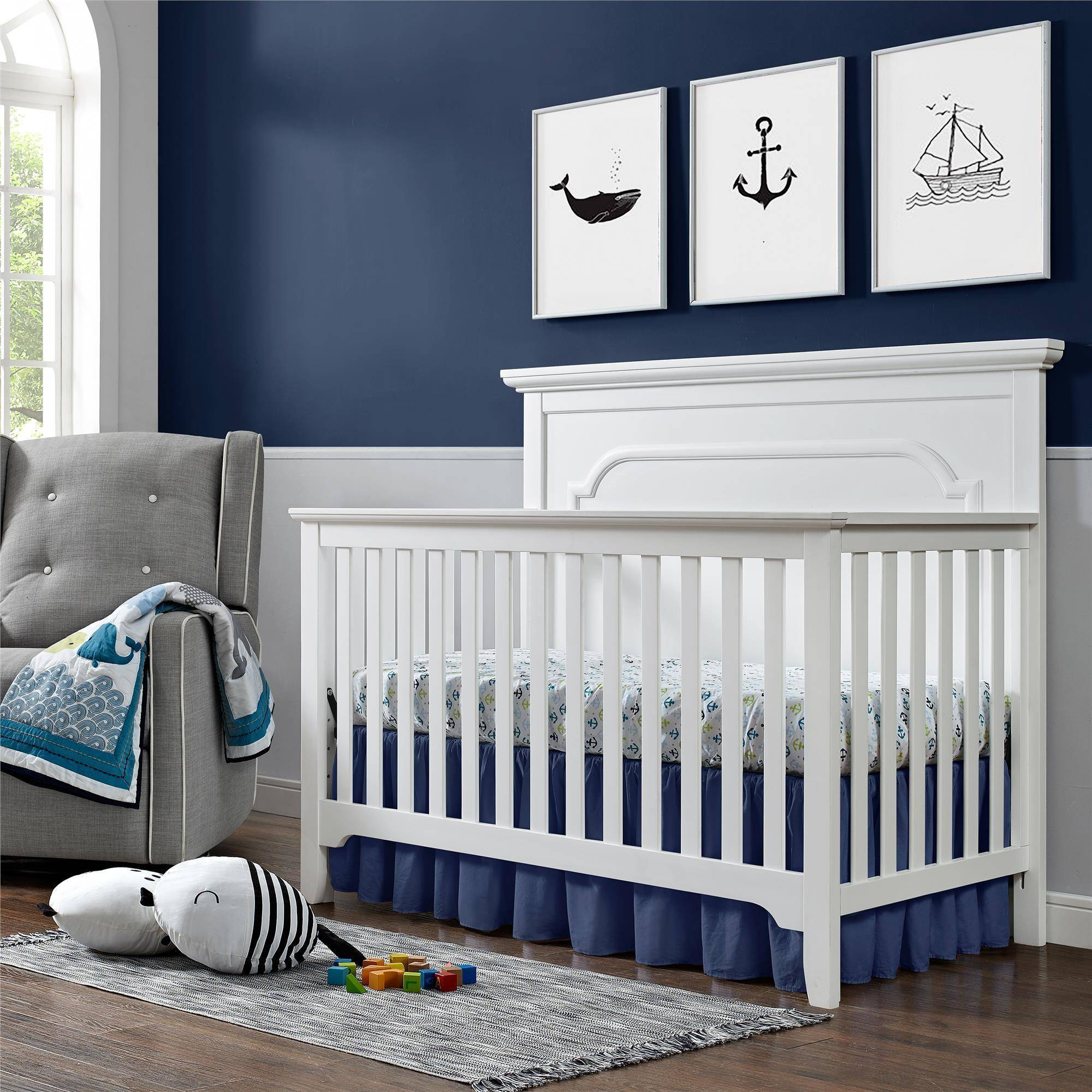 Baby Relax Ferris 4-in-1 Convertible Crib, Pure white
