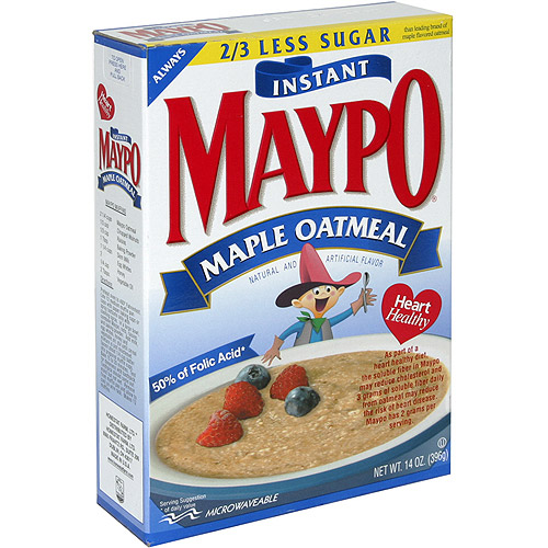 Maypo Maple Instant Oatmeal, 14 oz (Pack of 12)