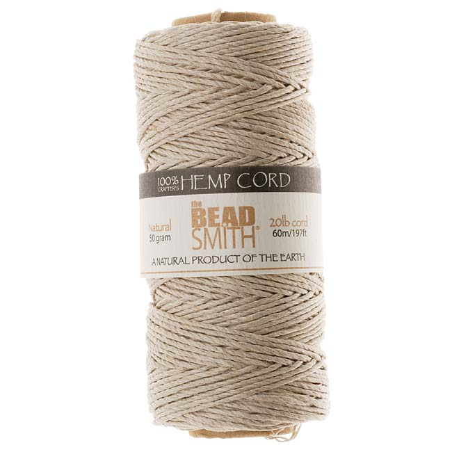 Natural Hemp Twine Bead Cord 1mm / 197 Feet (60 Meters)