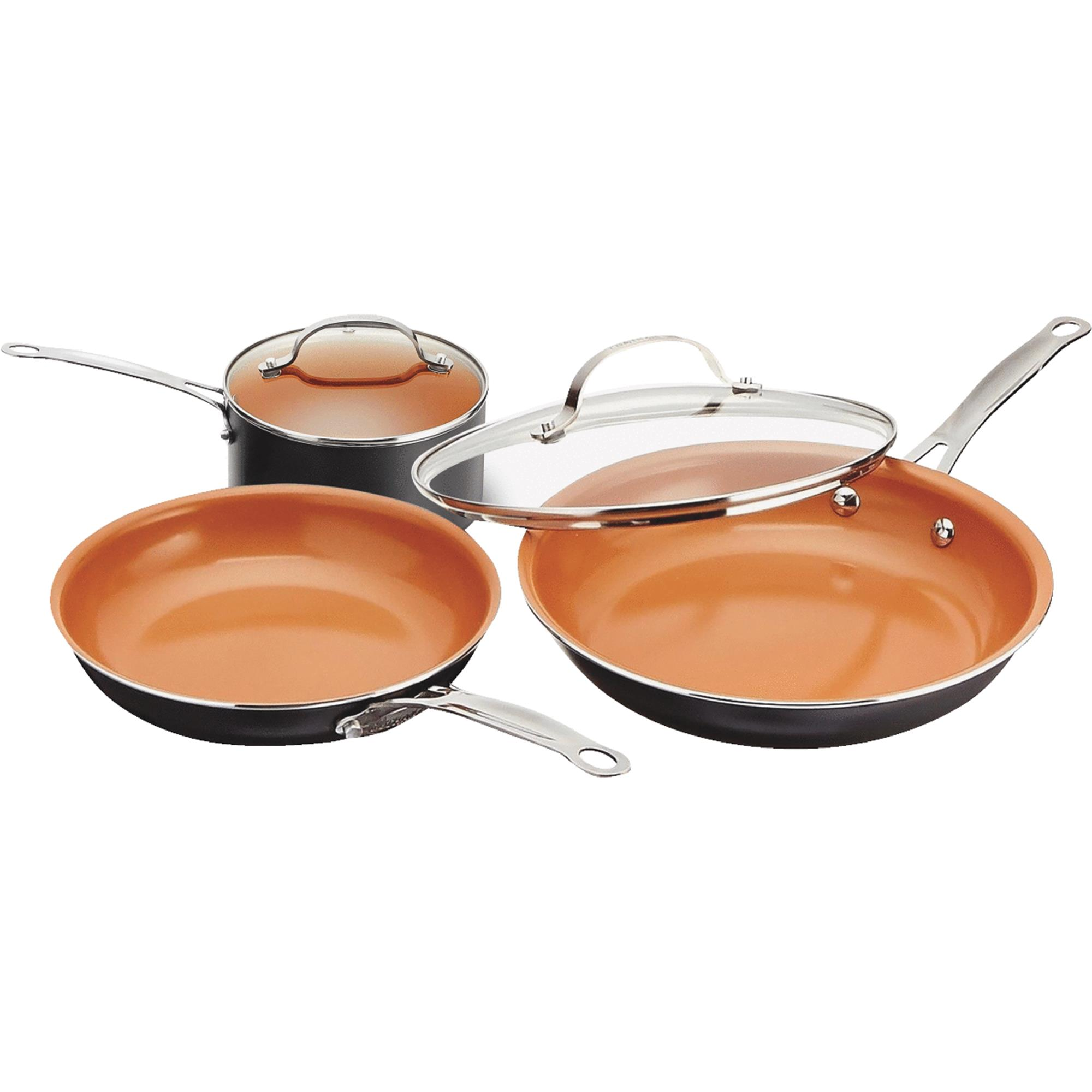 Gotham Steel 5-Piece Aluminum Round Cookware Set