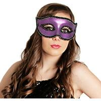 Glitter Purple Masquerade Mask