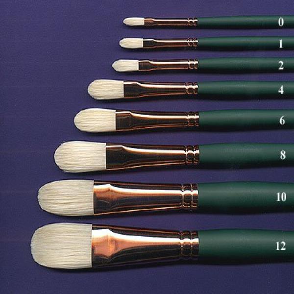 DealMux Wooden Grip Bristles Oil Acrylic Painting Brushes 25x35mm Head 2 Pcs