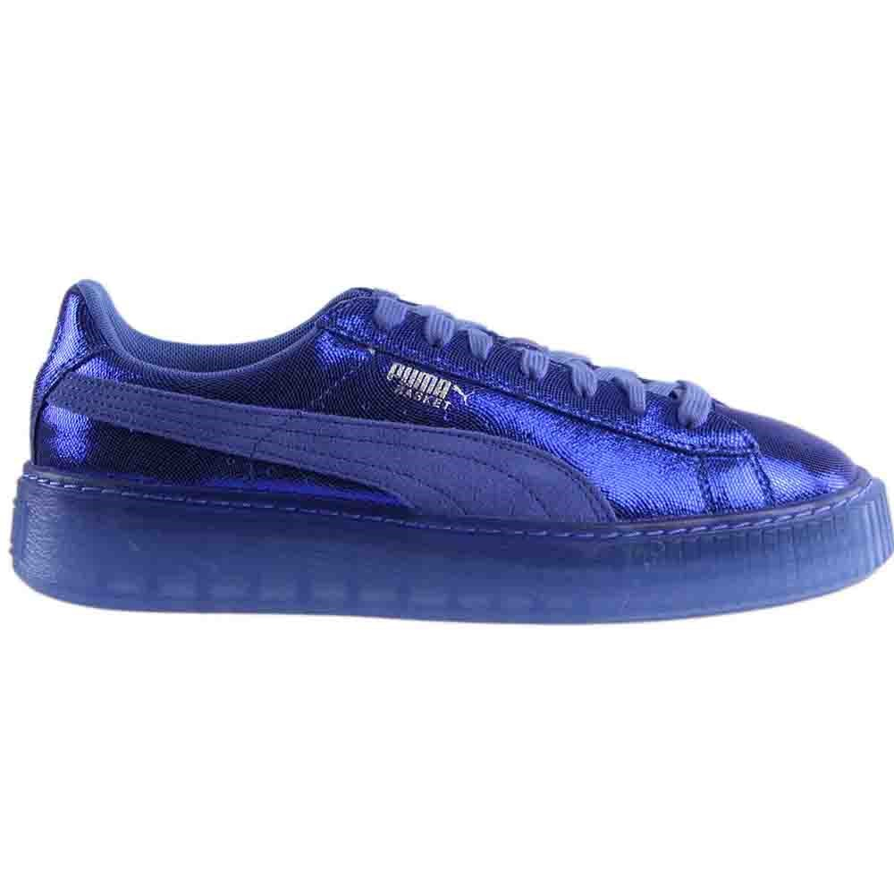Puma 364587-03: Women's Basket NS Wn Platform Blue Baja Blue Platform Sneaker 120cea
