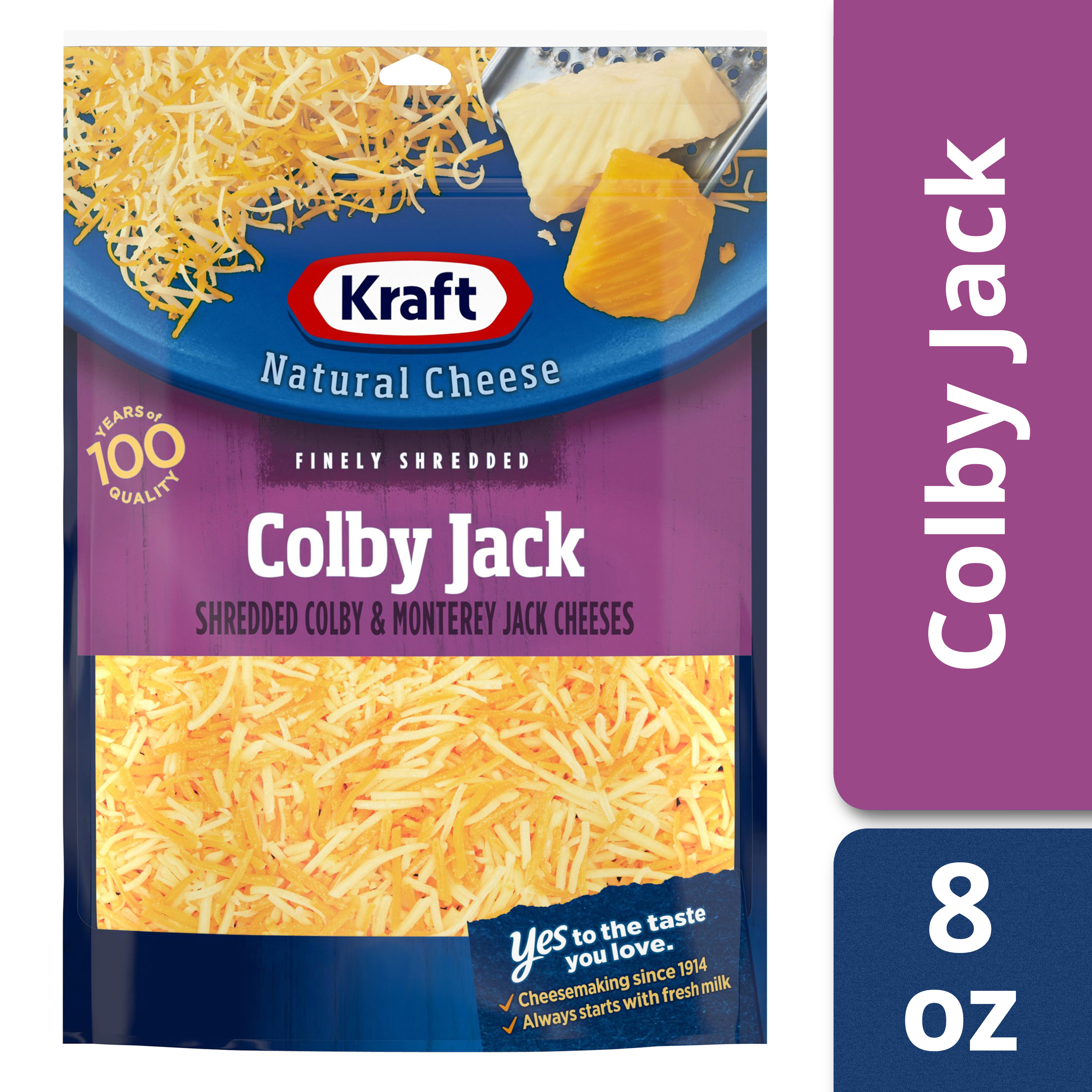 Kraft Colby Jack Finely Shredded Natural Cheese 8 oz Pouch