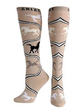 Ariat Accessories Women's Spirited Horse Socks BROWN O/S