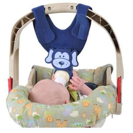 Hands Free Baby Bottle Holder (Bebe Bottle Sling Hands Free Baby Feeding Holder (Navy)