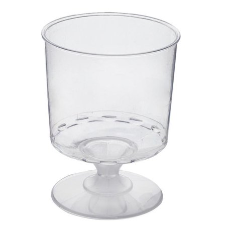 BalsaCircle Clear 12 pcs 6 oz Disposable Plastic Wine Glasses - Wedding Reception Party Buffet Catering Tableware
