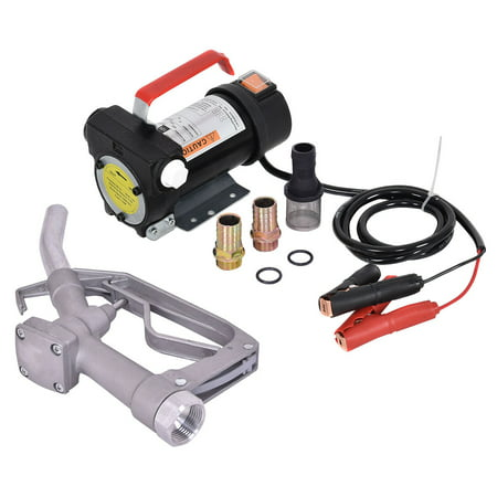 12v Fuel Transfer Pump - Costway 12V 10GPM Electric Diesel Oil And Fuel Transfer Extractor Pump w/ Nozzle & Hose