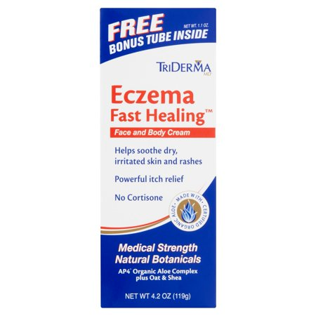 Triderma Md Eczema Fast Healing Face And Body Lotion With Bonus Tube  4 2 Oz