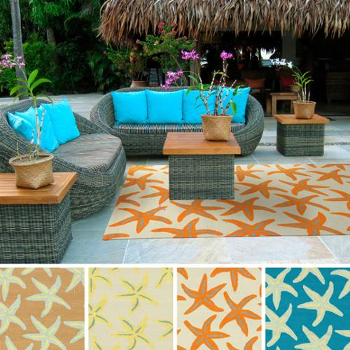 Hand Hooked Mia Starfish Indoor/ Outdoor Area Rug (8u0027 X ...