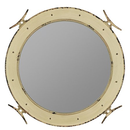 Mini Cooper Mirror Cover (Cooper Classics Nautical Wall Mirror - 27W x 27H in. )