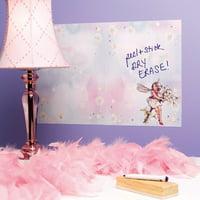 Wallies Flower Fairies Dry Erase Vinyl Chalkboard Wall Decal (Set of 2)