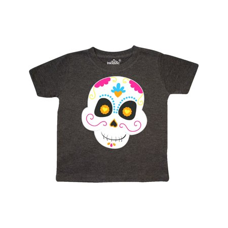 Decorated Candy Skull Toddler T-Shirt](Plain Skulls To Decorate)
