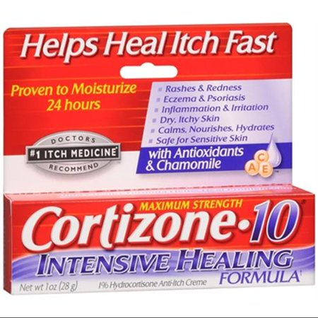 Cortizone-10 Intensive Healing Formula Anti-Itch Creme 1 oz (Pack of 3)