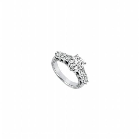 (Fine Jewelry Vault UBJ6856PTD-101RS10 Diamond Engagement Ring Platinum, 1.00 CT - Size 10)