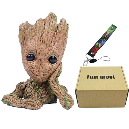 Baby Groot Flowerpot Figure, Guardians Of The Galaxy, Grow Flowers, Pot, Lanyard Baby Bootie Planter