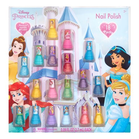 Hand Painted Halloween Nail Art (Disney Princess Nail Polish Gift Set (Peel-Off), 18 Pieces ($15)