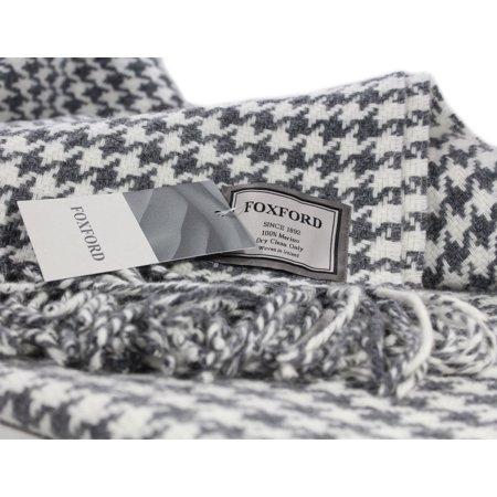 Irish Throw Blanket Merino Wool Grey White Houndstooth From Amazing Black And White Houndstooth Throw Blanket