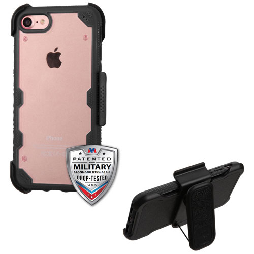 For iPhone 7 / 8 Clear FreeStyle Protective Phone Armor Case Cover with Holster
