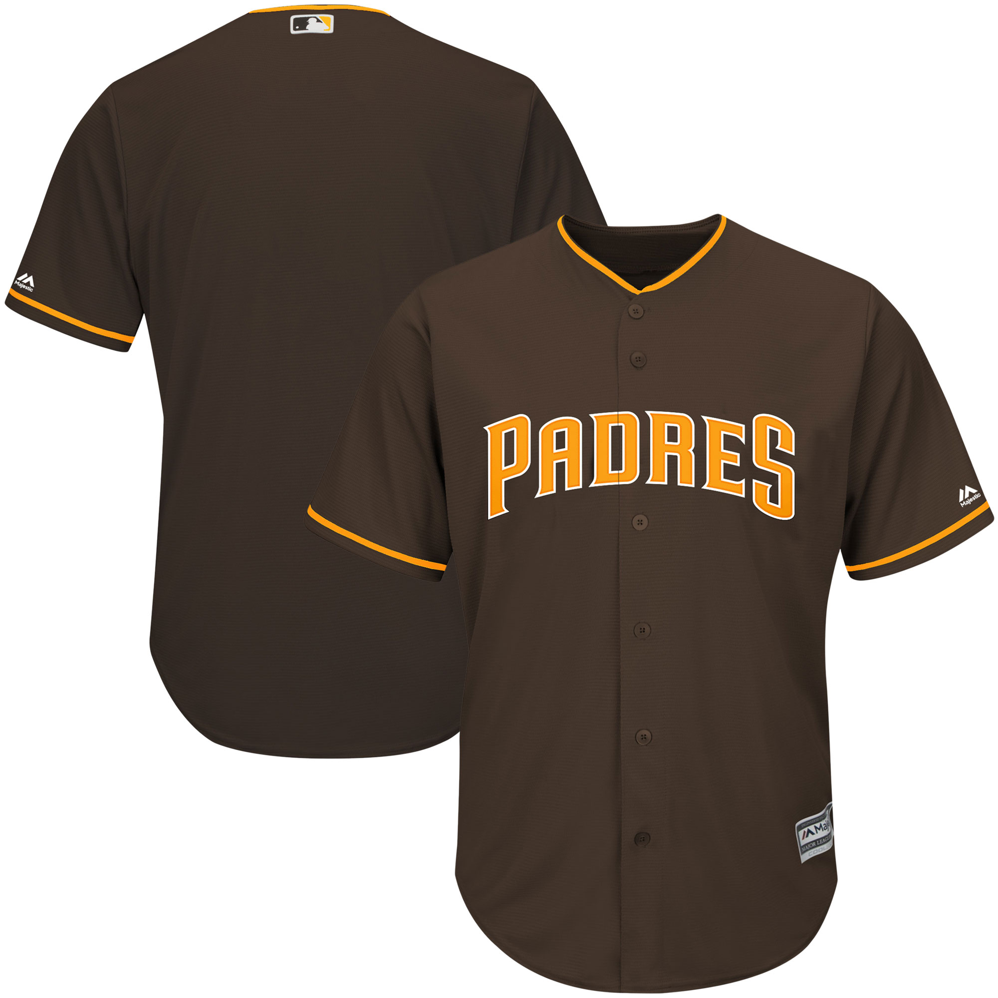 San Diego Padres Majestic Youth Offical Cool Base Jersey - Brown