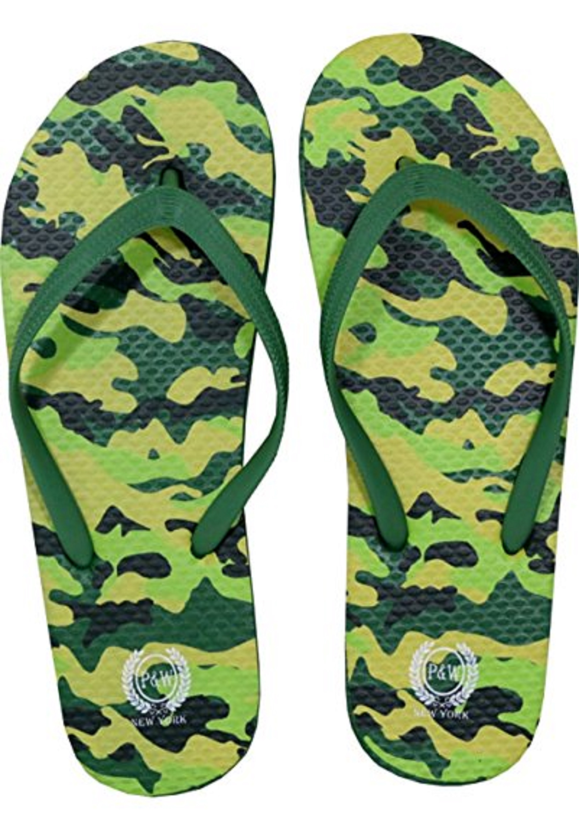 Mossad Men's Camo Military Collection Flip Flop Thong Sandals Camouflage Flip Flops Army Navy Marine Airforce (Small (7), Brown)