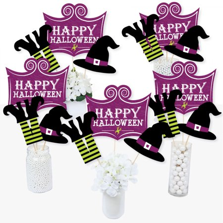 Happy Halloween - Witch Party Centerpiece Sticks - Table Toppers - Set of 15 (Halloween Party Table Setting)