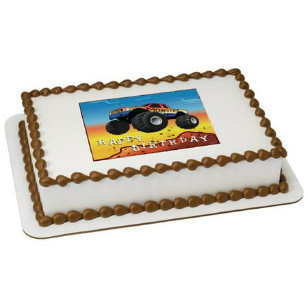 Monster Truck Edible Cake Topper - Monster Truck Cakes