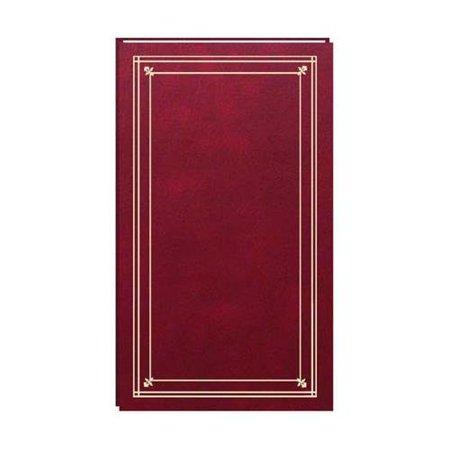 Pioneer Slim Line Post Bound, Clear Pocket Photo Album with Solid Color Covers, Holds 204 4x6