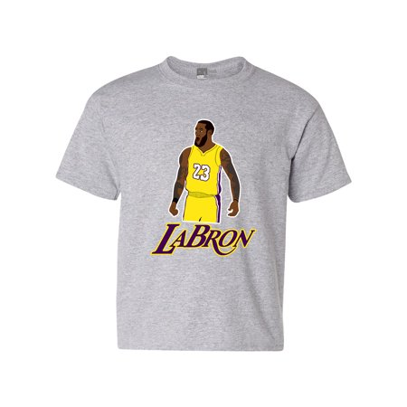 Labron The Look Lebron 23 King Los Angeles Basketball DT Youth Kids T-Shirt Tee - Lebron Halloween