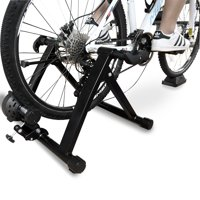 Everyday Essentials Bike Trainer Stand Steel Bicycle Exercise Magnetic Stand with Front Wheel Riser Block