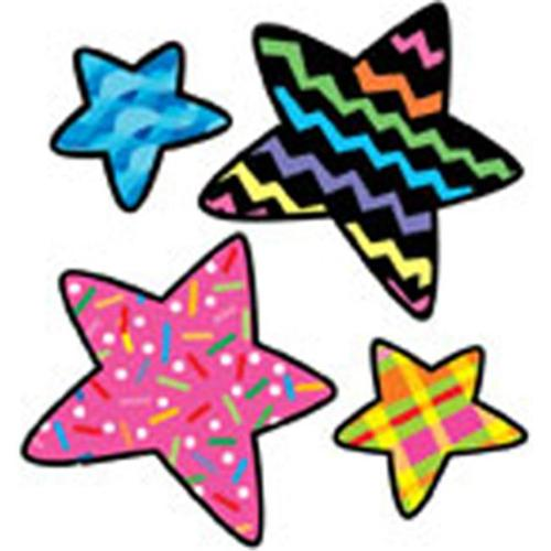 CREATIVE TEACHING PRESS CTP1255 STARS POPPIN PATTERNS STICKERS