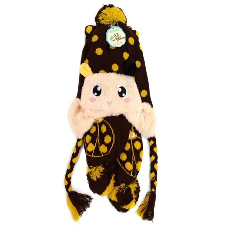 Kid's Ladybug Trapper Hat and Scarf Winter (Ladybug Knit Hat)