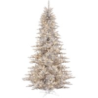 Vickerman 5.5' Silver Tinsel Fir Artificial Christmas Tree with 400 Warm White LED Lights