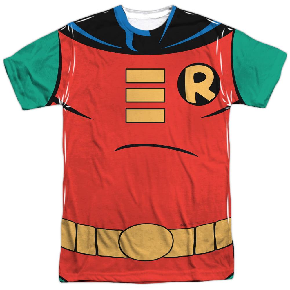 Batman The Animated Series Robin Uniform Mens Sublimation Shirt by Trevco