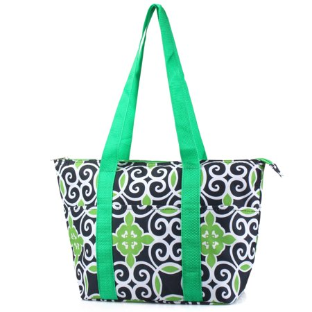 Equipped Picnic Tote (Zodaca Large Insulated Lunch Bag Cooler Picnic Travel Food Box Women Tote Carry)