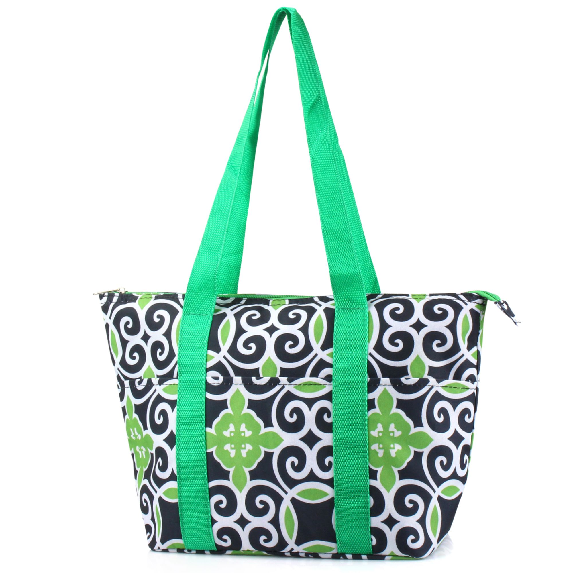 Zodaca Large Insulated Lunch Bag Cooler Picnic Travel Food Box Women Tote Carry Bags
