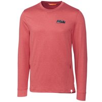 Seattle Seahawks Cutter & Buck Americana Jackson French Terry Pullover Sweatshirt - Heather Red