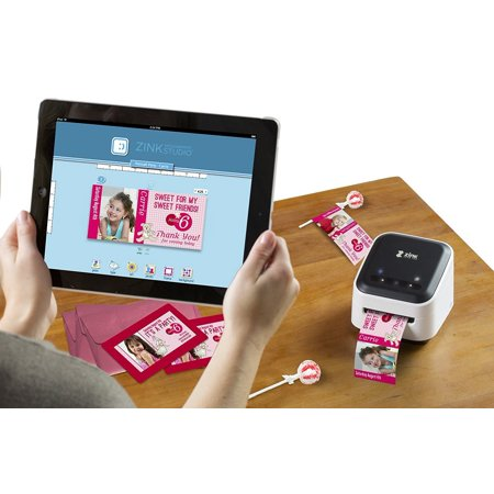 ZINK hAppy Phone Photo & Labels Wireless Printer  Wi-Fi Enabled  Print  Directly from IOS & Android Smart Phones, Tablets  Includes FREE Arts &  Crafts